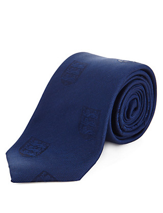 Official England FA Pure Silk Tie Clothing
