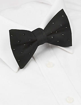 Pure Silk Bow Tie MADE WITH SWAROVSKI® ELEMENTS