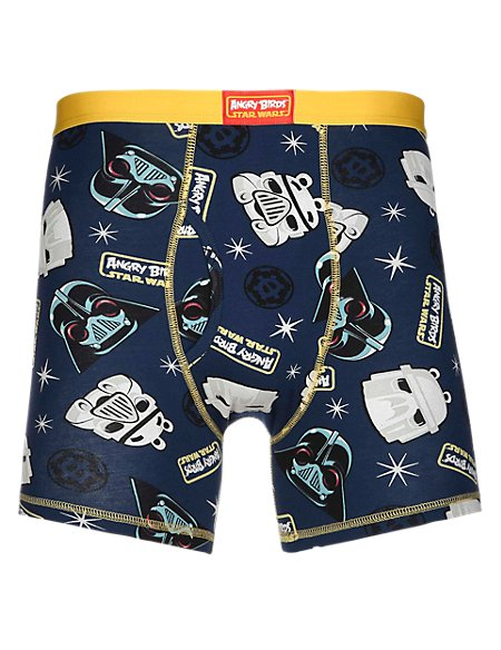 1 Pair Pack Stretch Cotton Angry Birds™ & Star Wars™ Trunks
