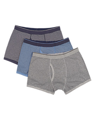 3 Pack Cool & Fresh™ Stretch Cotton Trunks Clothing