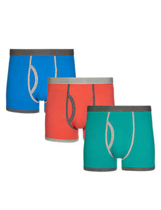 3 Pack Stretch Cotton Cool & Fresh™ Assorted Trunks with StayNEW™ Clothing