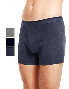 XXXL 3 Pack Cool & Fresh™ Pure Cotton Trunks