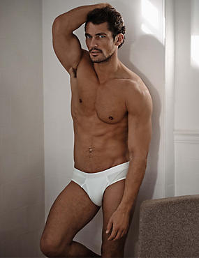 2 Pack Stretch Cotton Briefs , WHITE, catlanding
