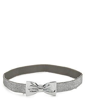 Kids' Metallic Effect Bow Hip Belt
