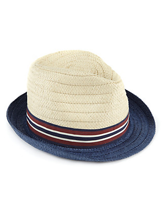 Striped Band Trilby Hat (Older Boys) Clothing