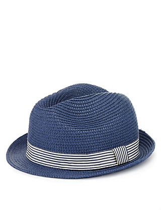 Trilby Straw Hat (Younger Boys) Clothing