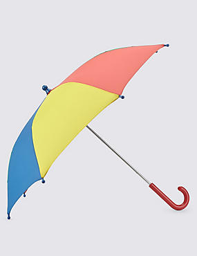 Kids' Colour Block Umbrella