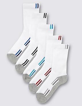 5 Pairs of Cotton Rich Freshfeet™ Sports Socks (5-14 Years)