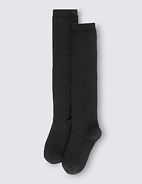 2 Pairs of Freshfeet™ Cotton Rich Over The Knee Socks with Silver Technology