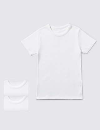 2 Pack Short Sleeve Vests (1-16 Years) Clothing