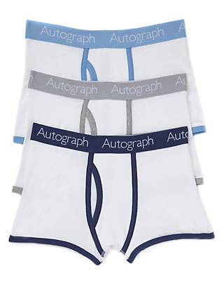 3 Pack Cotton Rich Assorted Trunks Clothing