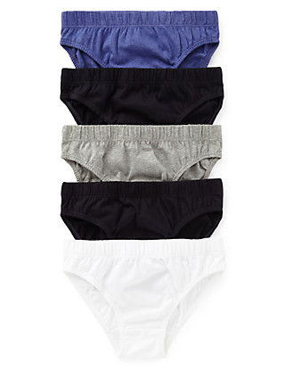 5 Pack Pure Cotton Assorted Slips (1-16 Years) Clothing