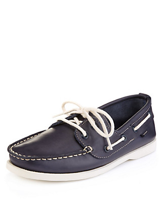 Leather Boat Shoes (5-14 Years) Clothing