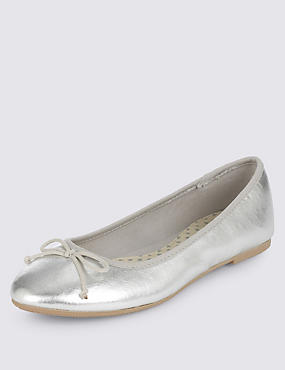Kids' Silver Ballet Shoes