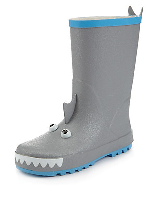 Shark Welly Boots (Younger Boys) Clothing