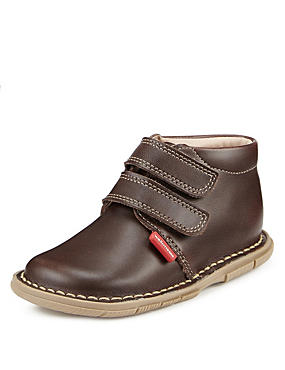 Kids' Wide Fit Walkmates Leather Desert Boots