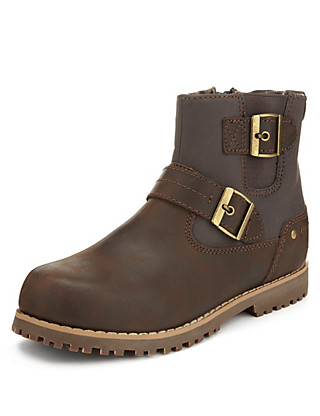 Leather Buckle Boot Clothing