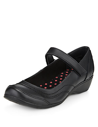 Scuff Resistant Leather Cross Bar School Shoes with Insolia Flex® (Older Girls) Clothing