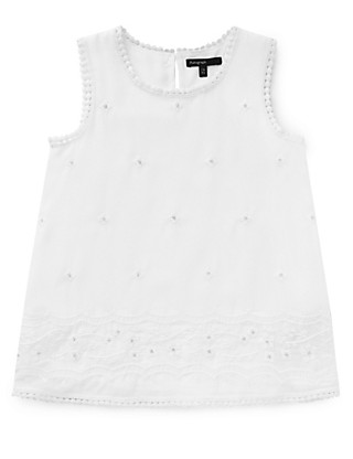 Embroidered Vest Top Clothing