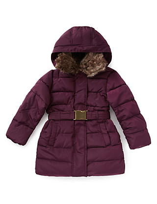 Hooded & Padded Long Thermal Coat with Stormwear™ (5-14 Years) Clothing