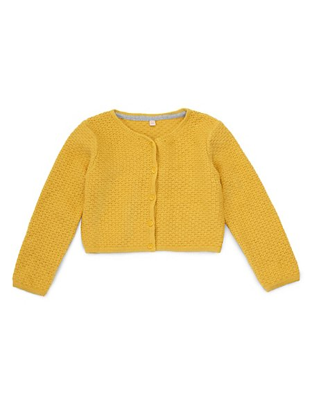 Cotton Rich Cropped Cardigan (1-7 Years)