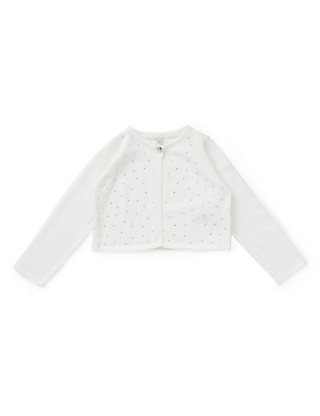 Pure Cotton Stud Embellished Cardigan with StayNEW™ (1-7 Years) Clothing
