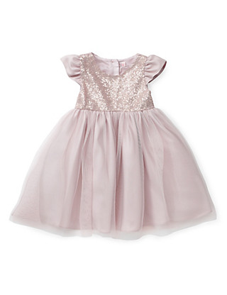 Sequin Embellished Mesh Dress (1-7 Years) Clothing