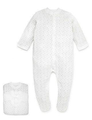 3 Pack Pure Cotton Assorted Sleepsuits Clothing