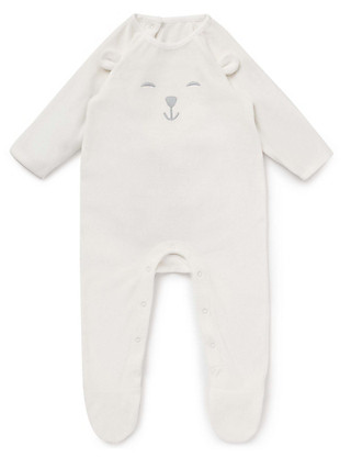 Velour Teddy Sleepsuit Clothing