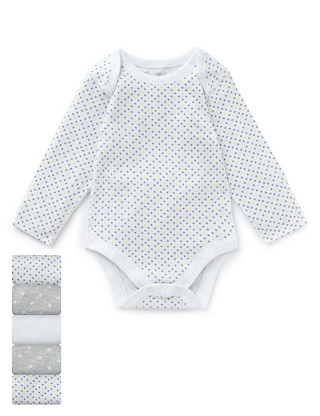 5 Pack Pure Cotton Assorted Bodysuits Clothing