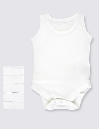 5 Pack Superfine Cotton Bodysuits Clothing