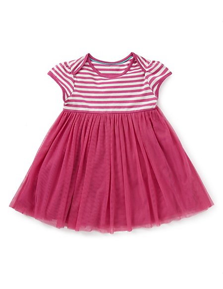 Pure Cotton Striped Tutu Dress