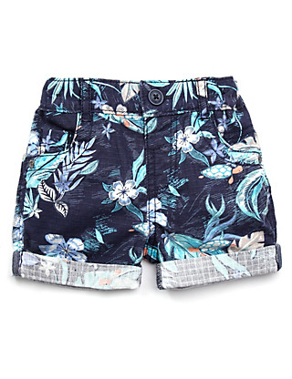 Pure Cotton Hibiscus Shorts Clothing