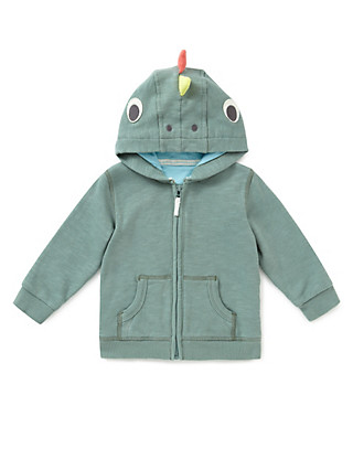 Pure Cotton Iguana Hooded Top Clothing