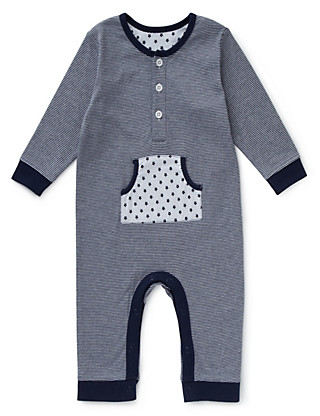 Pure Cotton Striped Onesie Clothing