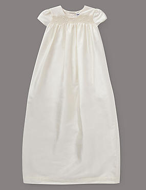 Pure Silk Smock Christening Dress