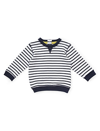Pure Cotton Striped Sweat Top Clothing