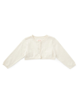 Bolero Cardigan with Silk Clothing