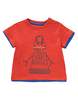 Pure Cotton Robot T-Shirt Clothing