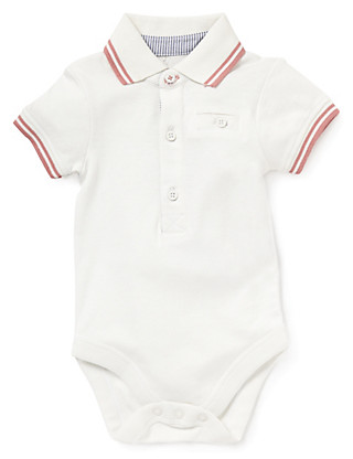 Pure Cotton Polo Bodysuit Clothing