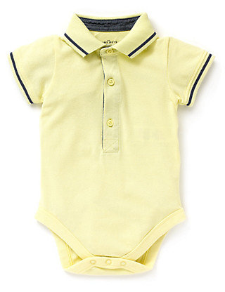 Pure Cotton Piqué Polo Bodysuit Clothing