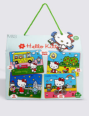 Hello Kitty 4-in-1 Jigsaw Puzzle