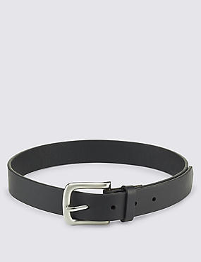 Kids' Leather Square Buckle Belt