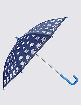 Kids' Skull Print Colour Changing Umbrella
