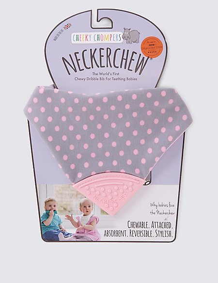 Polka Dot Pink Neckerchew® Dribble Bib