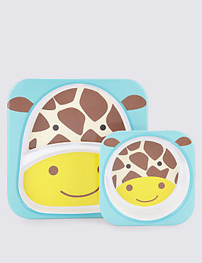 Zoo Tabletop Set (Plate & Bowl) - Giraffe