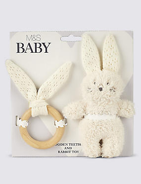 Bunny Teether Gift Set
