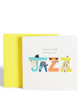 All That Jazz Birthday Card