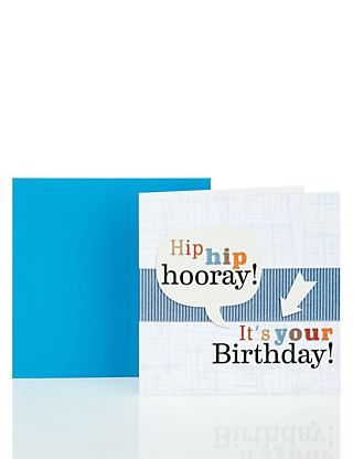 Hip Hip Hooray Birthday Card Home