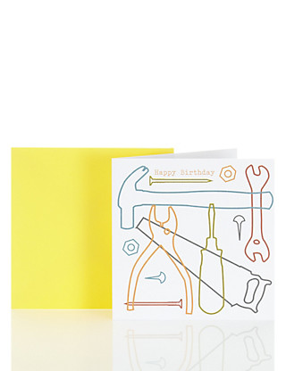Modern Tool Happy Birthday Card Home
